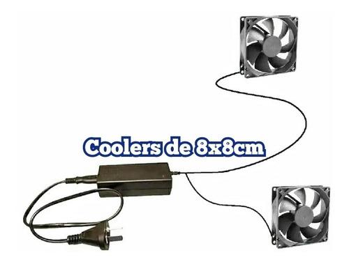 Ventilación Cultivo Indoor 2 Cooler 8x8 12v / 220 Listo 2mt