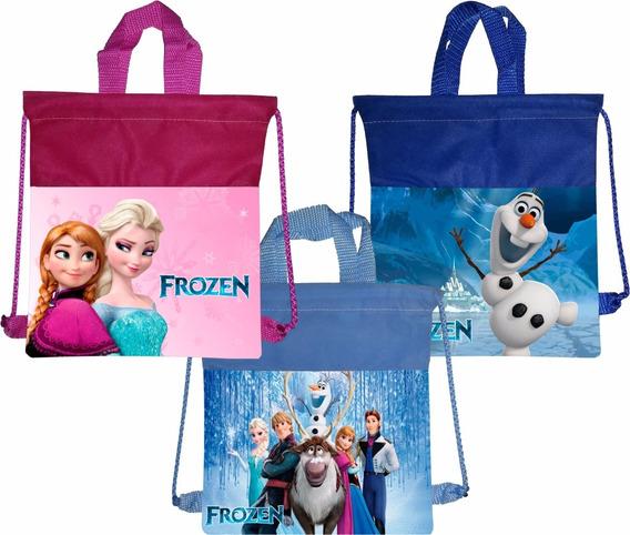10 Bolsa Morral Bolo Dulcero Frozen Ana Elsa Olaf + Regalo*