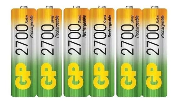 Pilas Baterias Gp Recargables Combo X3 Aa 2700mah A058