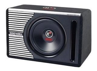 Subwoofer 10 Amplificado 1000 Watts Cajon 3 En 1 Audio Auto
