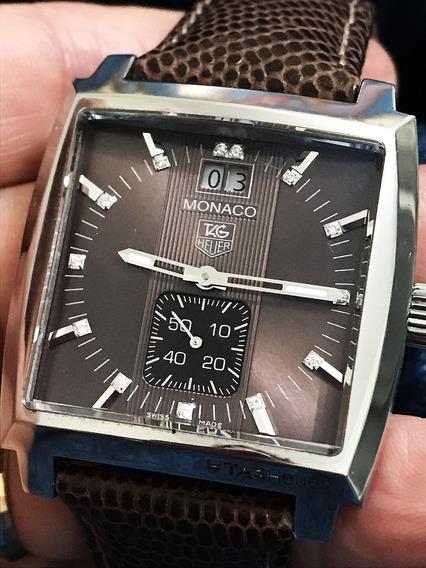 Nivel Omega Tag Heuer Mônaco 13 Diamantes Unissex Veja Video