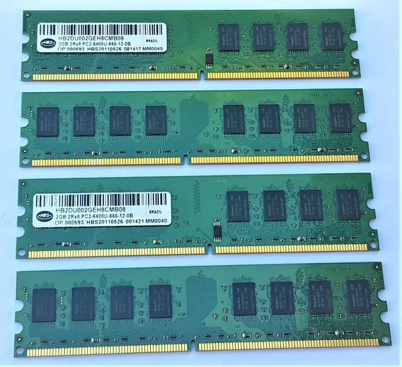 Memoria Hbs 8 Gb Ddr2 800mhz Pc Pc2-6400u 4 X 2