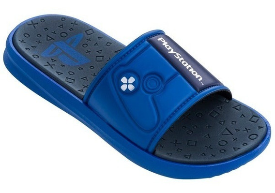 Chinelo Grendene Kids Playstation Connect 21980-azul/preto