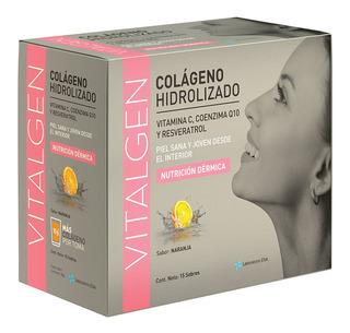 Colageno Hidrolizado + Q10 Resveratrol Vitalgen X 15 Sobres