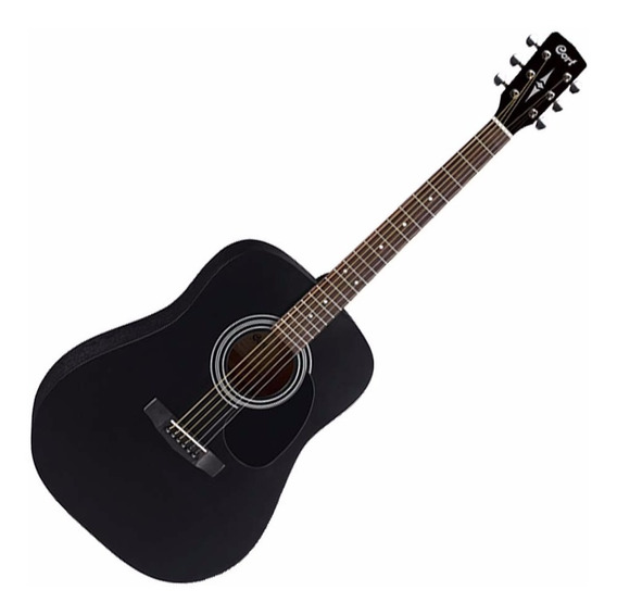Guitarra Electroacustica Cort Ad810 E Bks - Funda - Cuotas