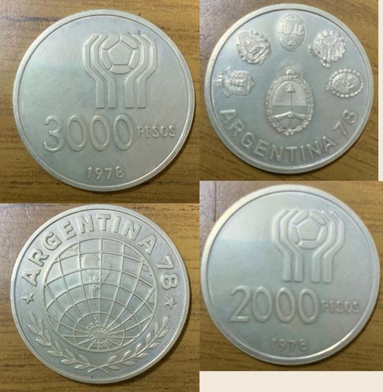 9 Monedas Conmemorativas Mundial 78