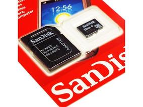 Cartão De Memória Micro Sdhc 32gb Com Adaptador Sd Sandisk