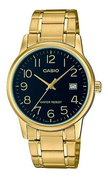 Relógio Casio Social - Mtp-v002g-1budf - Dourado