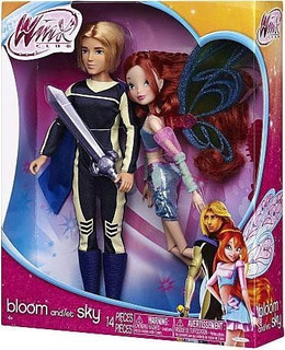 Winx Club Deluxe Fashion Doll Bloom Y Sky 2 Unidades)