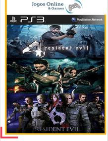 Resident Evil 4 + 5 + 6 Ps3 Psn Mídia Digital - Cod / Jogo