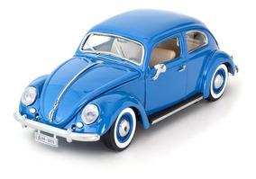 Miniatura Metal Carro Antigo Coleção Fusca Azul
