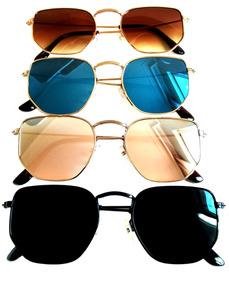 cb2a13c2a Óculos De Sol Feminino Hexagonal Verão 2019 Super Promoção