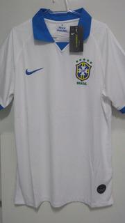 Camisa Seleção Brasileira Nova Branca 19/20 Brasil