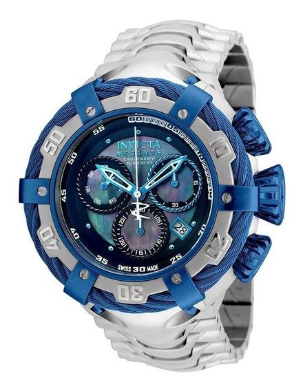 Relógio Invicta Bolt 21357 Thunderbolt Prata / Azul