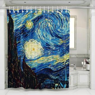Cortina De Baño La Noche Estrellada De Van Gogh