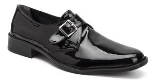 Zapatos Hebilla Con Cinto Charol Autobrillo Ecocuero Import