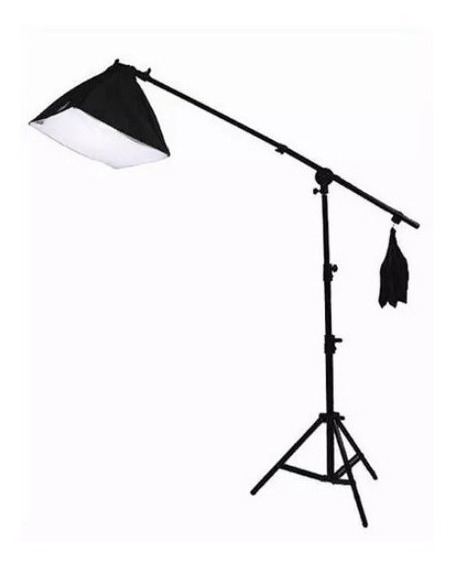 Kit Iluminação 2 Softbox 60x60 Bocal C/2 E Bocal C/1 Girafa