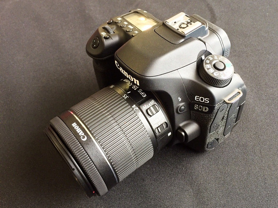 Canon Eos 80d + Lente Ef-s 18-55mm + Cartão 32gb Sem Juros