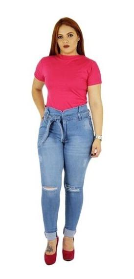 Calça Jeans Feminina Plus Size 46 A 60 Tamanhos Grande
