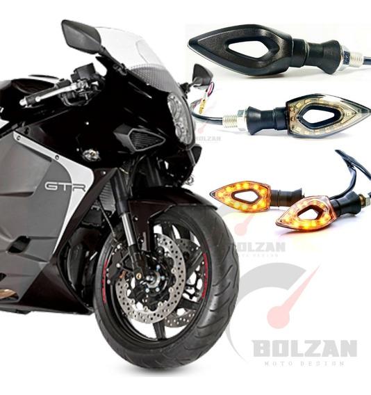 2 Pares Pisca Seta Moto Led Comet Hyosung 250/gt 250r/ 650