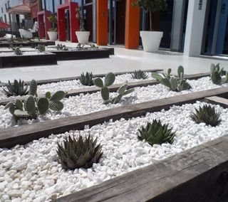 Piedra Blanca Jardin Piedras Decorativas De Jardin En Mercado
