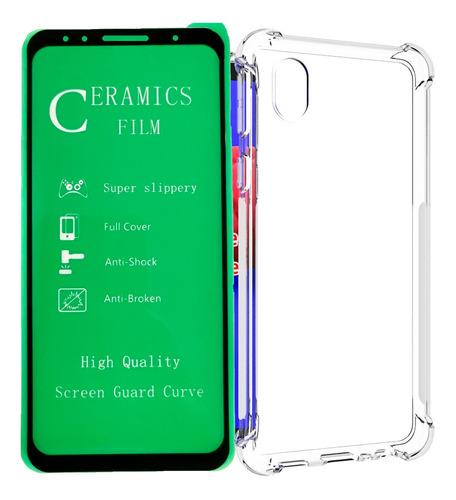 Funda Estuche  Carcasa + Vidrio Ceramico Samsung A01 Core