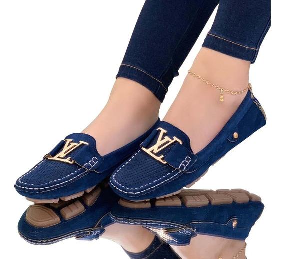 Zapato Casual Mocasin Louis Vuitton Dama Moda Colombiana