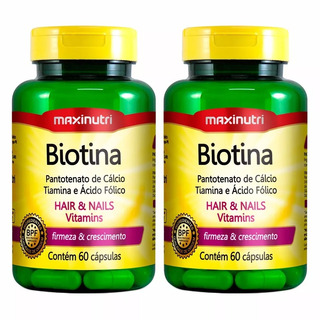 Biotina - 2x 60 Cápsulas - Maxinutri