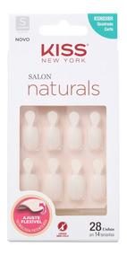 Kiss Ny Salon Naturals Quadrado Curto Aba-unhas Postiças Blz