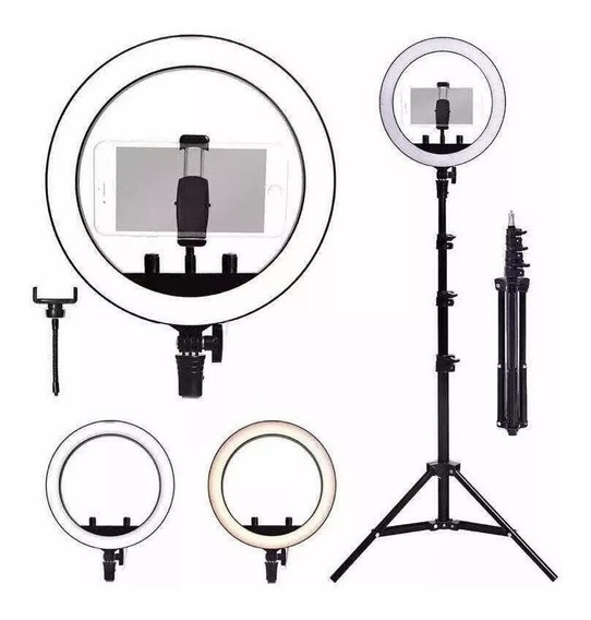 Kit Completo Ring Light C/ Tripé Dimmer Selfie Pro Youtuber