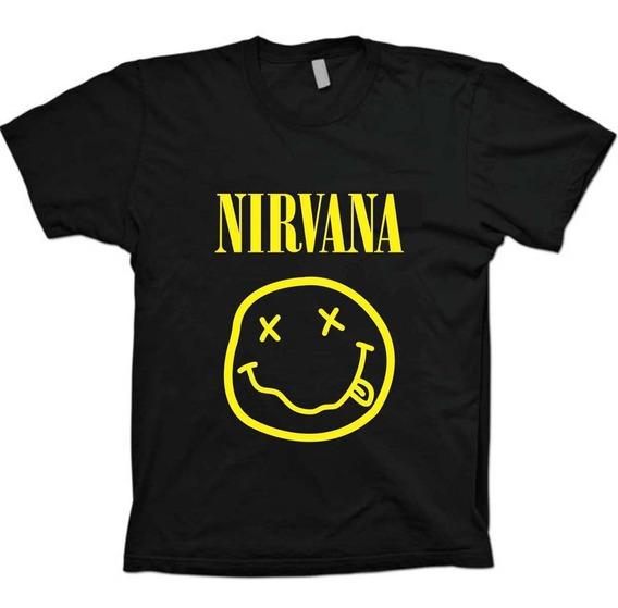 Camiseta Bandas Rock - Kurt Cobain Nirvana - 100% Algodão
