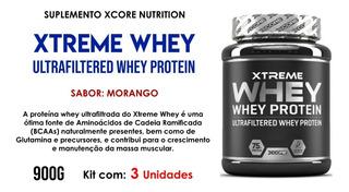 3x Xtreme Ultrafiltered Morango Xcore Nutrition 900g