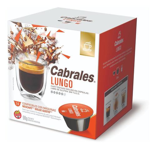Cafe Capsulas Cabrales Lungo Dolce Gusto