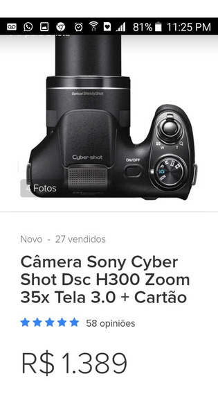 Camera Fotografia Sony Cyber-shot H300