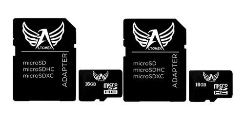 Imagem 1 de 2 de Cartão De Memória Micro Sd 16gb Classe 10 Altomex Kit