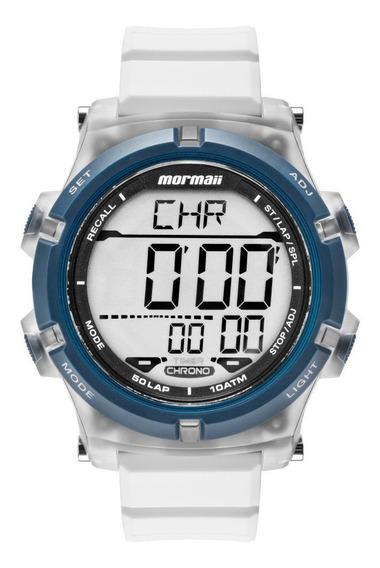Relógio Masculino Mormaii Mo1192aa/8b 48mm Silicone Branco