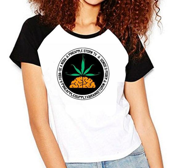 Camiseta Raglan Poesia Acústica Pnpl Rap Pineapple Hiphop