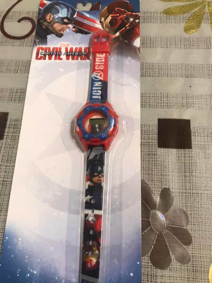 Reloj Digital Disney Ruz Civil War Capitan America