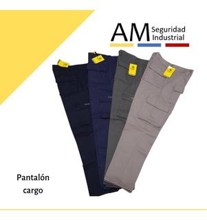 Pantalon Cargo Pampero Trabajo Grafa Alg 100% Talle 38 Al 54