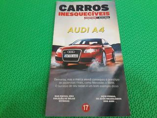 Revista Fascículo Carros Inesquecíveis Audi A 4 Jornal Extra
