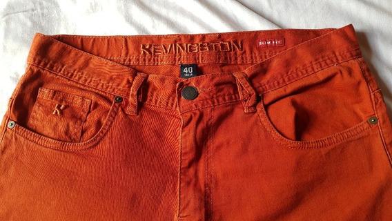 Pantalon Kevingston Talle 40 Slim Fit Rojo