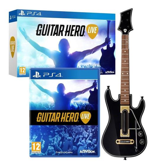 Jogo Guitar Hero Live Ps4 + Guitarra - Produto Novo Original