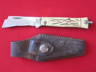 Raro Canivete Cimo Inox Com Bainha Antigo