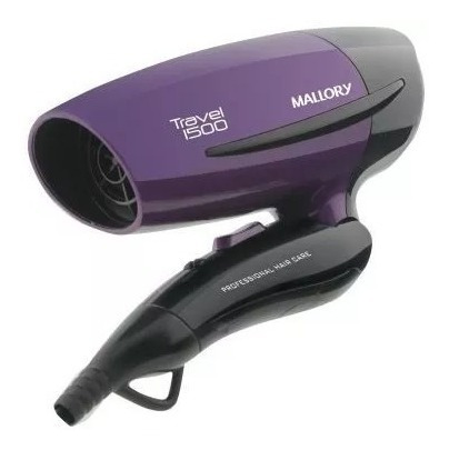 Secador Travel 1500 Bivolt Bocal Integrado - Malllory Barato