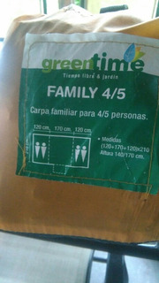 Carpa Familiar 4/5 Personas Marca Greentime