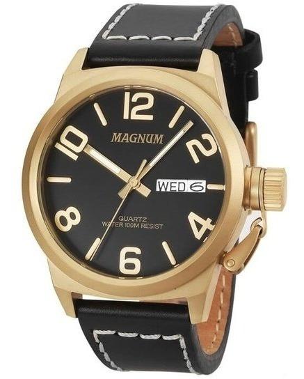 Relógio Magnum Masculino Ma33406p Dourado Preto