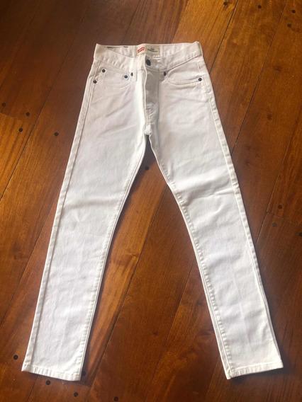 Pantalón Jean Levis Blanco Varón Talle 14 Super Skinny