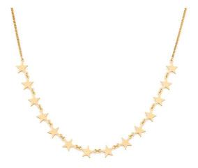 Colar Gargantilha Com 14 Estrelas Lisas Joia Rommanel 531828