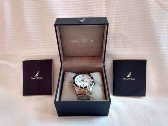 Relógio Nautica Masculino Aço - A14630g
