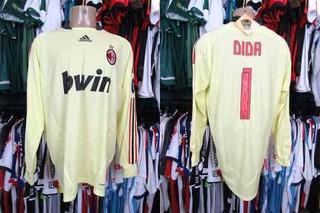 Milan 2008 Camisa De Goleiro Tamanho Gg # 1 Dida.
